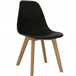 Brussels Plastic Dining Chairs - Black