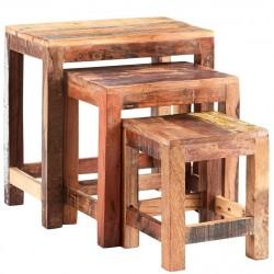 Funki Coastal Nest of Three Tables