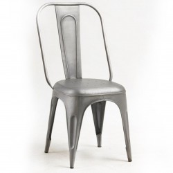 Panna Industrial Silver Metal Chair