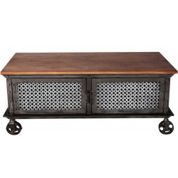 Panna 2 Door Coffee Table, white background