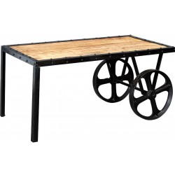 Kinver Industrial Cart Coffee Table