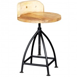 Kinver Industrial Adjustable Wooden Chair