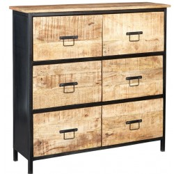 Kinver Industrial 6 Drawer Chest