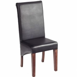 Indore Dark Mango  Leather Chair