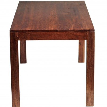 Indore Dark Mango 4FT Dining Table Side view