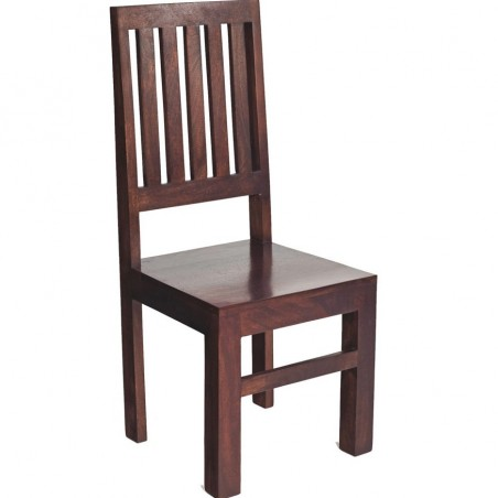 Indore Dark Mango Wooden Chair Angled View