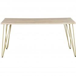 Tanda Light Gold Dining Table