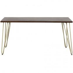 Tanda Dark Gold Dining Table