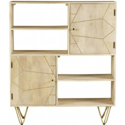Tanda Light Gold Display Cabinet, front view
