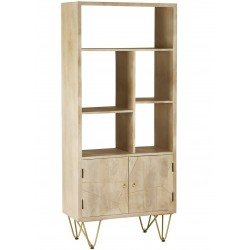 Tanda  Light Gold Large Bookcase, angle view