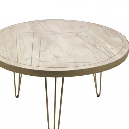 Tanda Light Gold Round Dining Tabletop Detail