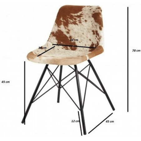 Angus Cowhide Dining Chair - Dimensions