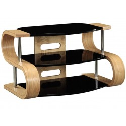 Tanis 85cm Curved TV Cabinet - Oak