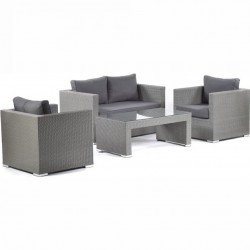 Turin Sofa Set with  Glass Top Table