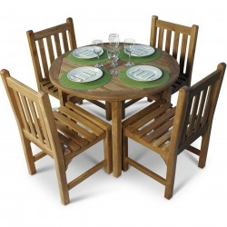 Buckland 4 Seater Teak Dining Set