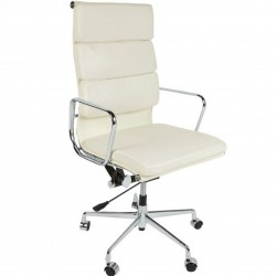 Della Soft Pad Office Chair High Back - White