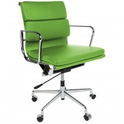 Della Soft Pad Office Chair Short Back - Green