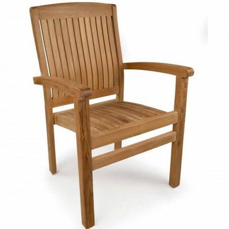 Penstone Teak Stacking Chair