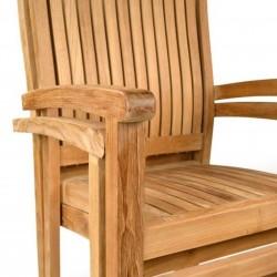 Penstone Teak Stacking Chair Detail