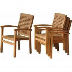 Penstone Teak Stacking Chair Storage Shot