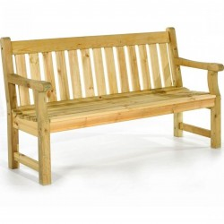 Radley Pine Garden Bench - Natural Three Seater