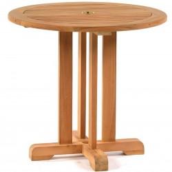Berkeley Teak Round Pedestal Bistro Table