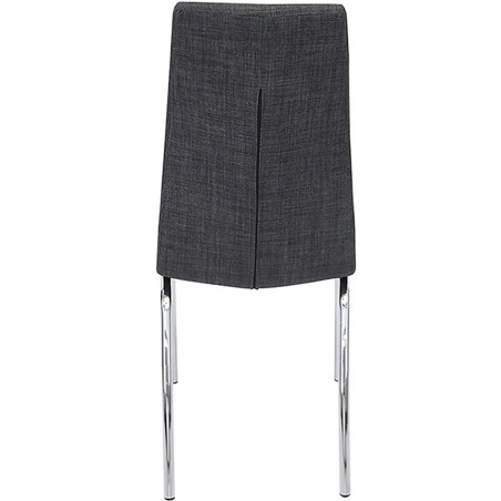 Jatal Charcoal Fabric Dining Chair - Rear View