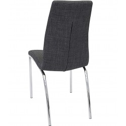Jatal Charcoal Fabric Dining Chair Angled View