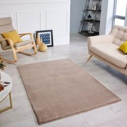 Comfy Plain Rug - Mink Room Shot