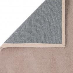 Comfy Plain Rug - Mink Backing Detail