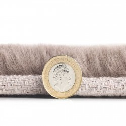 Comfy Plain Rug - Mink Thickness Detail
