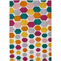 Descent Multicoloured Hexagon Rug - Multi
