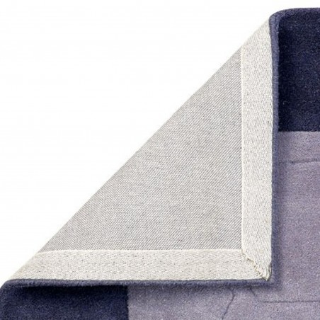 Hex Geometric Border Rug - Grey Backing Detail
