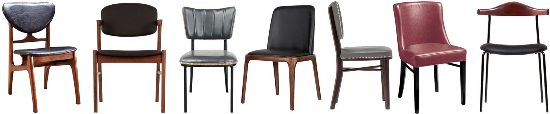 Faux Leather Dining Chairs |Grey, Black, White, Brown, Cream & More